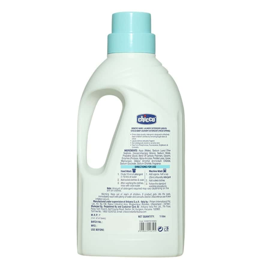 Chicco Fresh Spring Laundry Detergent  Bottle Of 1000 Ml