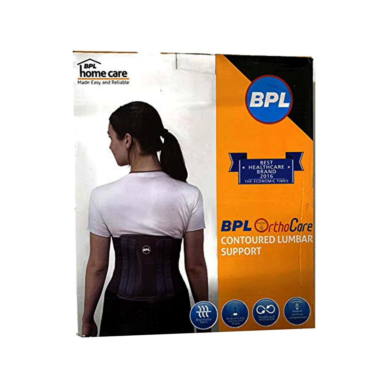 Bpl Orthocare Contoured Lumbar Support Grey - Xl - 1pc