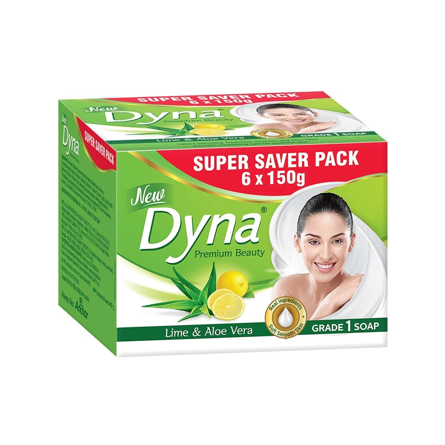 Dyna Lime & Aloevera Extracts ( 150gm X 6) Packet Of 900 G