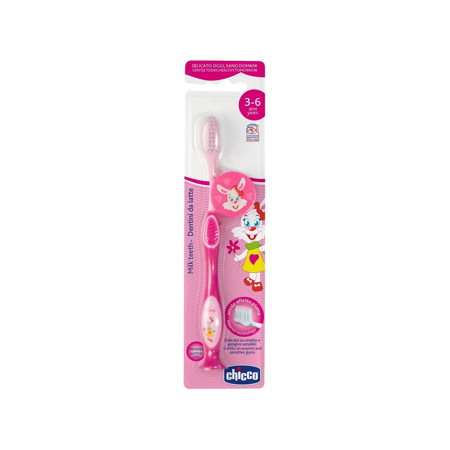 Chicco Baby Toothbrush 3y-6y - Pink