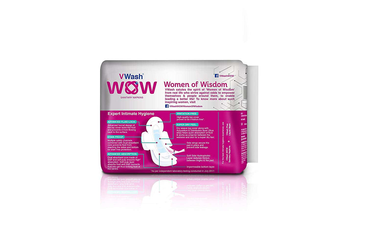 Vwash Wow Maxi Size L Sanitary Pads Pack Of 30 (packs Of 6x5)