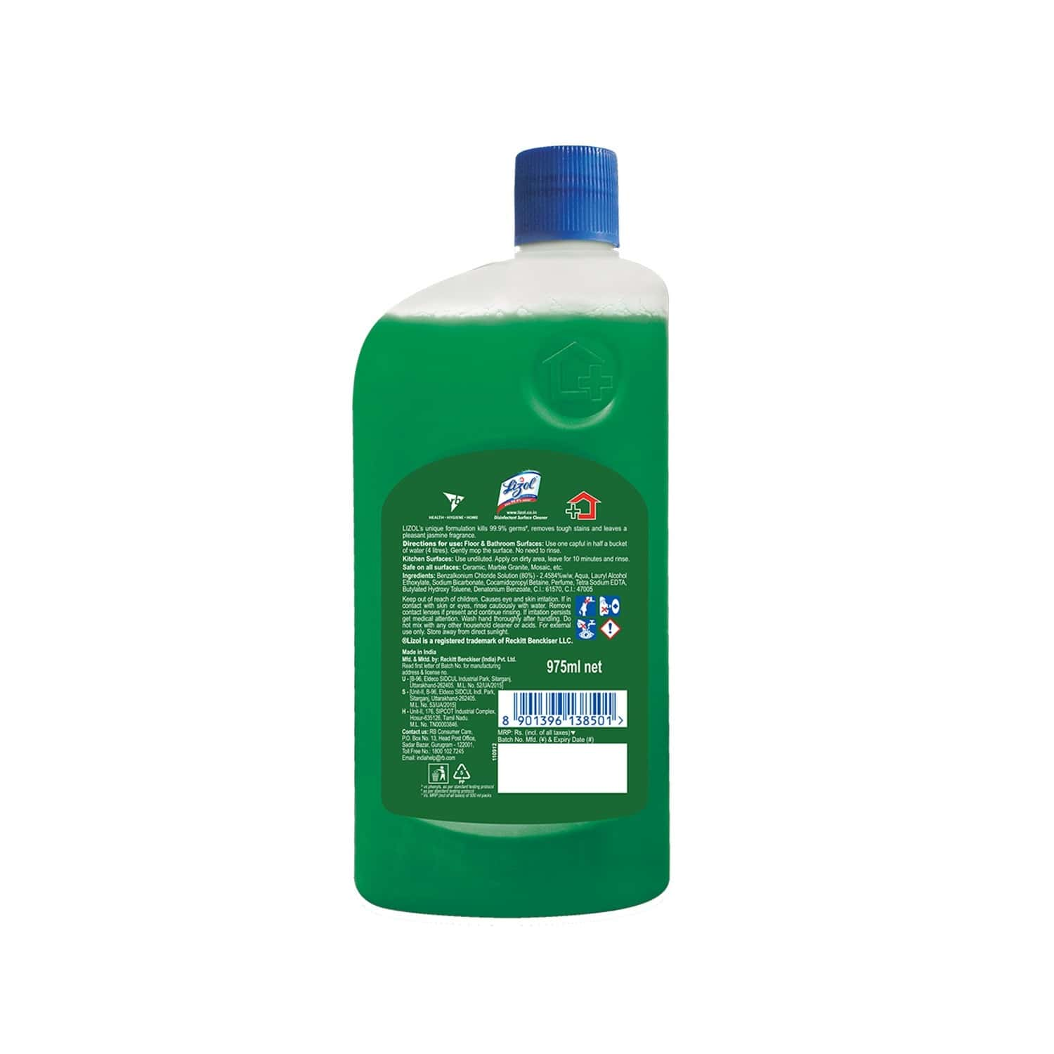 Lizol Jasmine Disinfectant Floor Cleaner Bottle Of 975 Ml