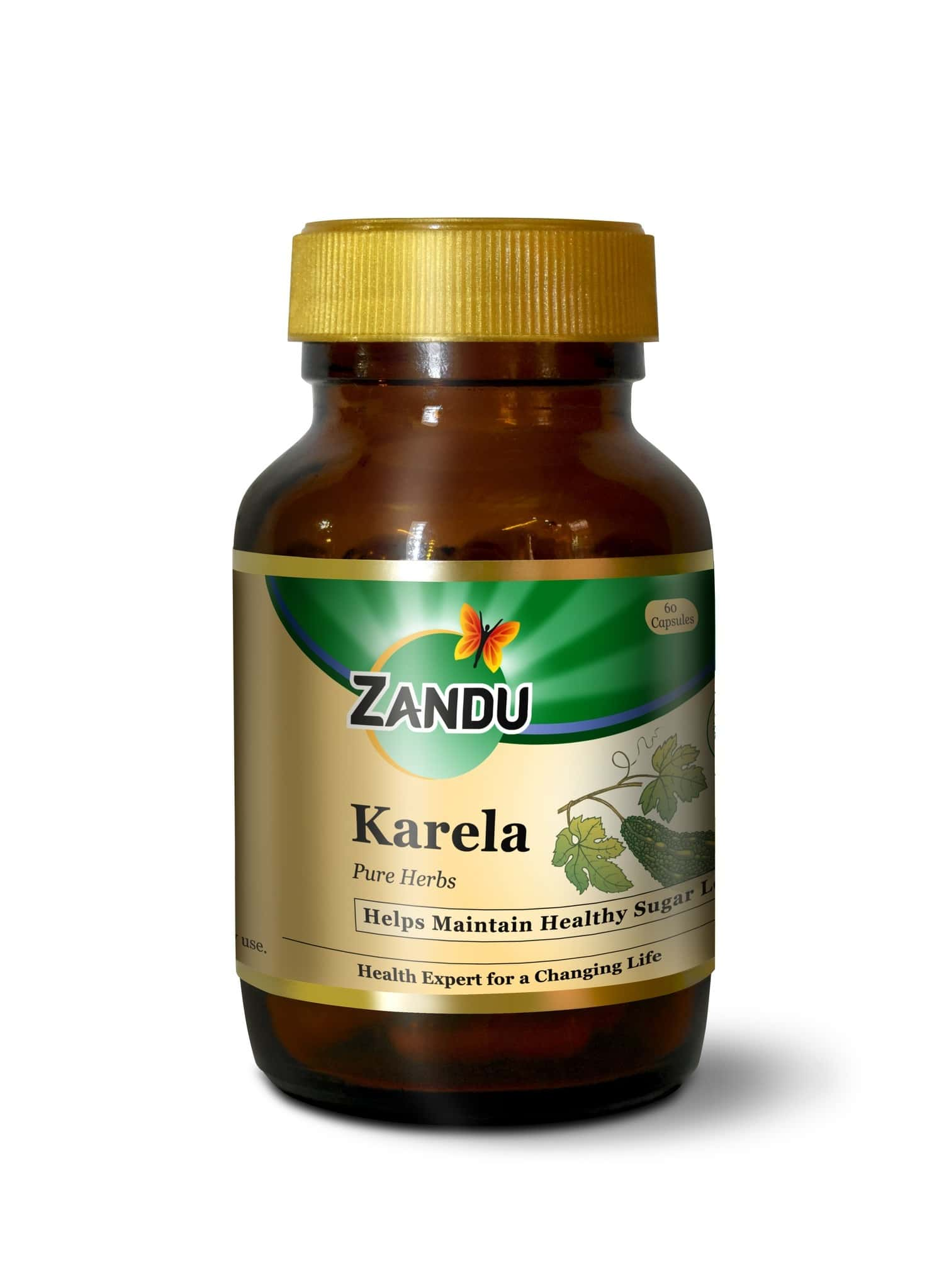 Zandu Karela Ayurvedic Veg  Capsules  Bottle Of 60