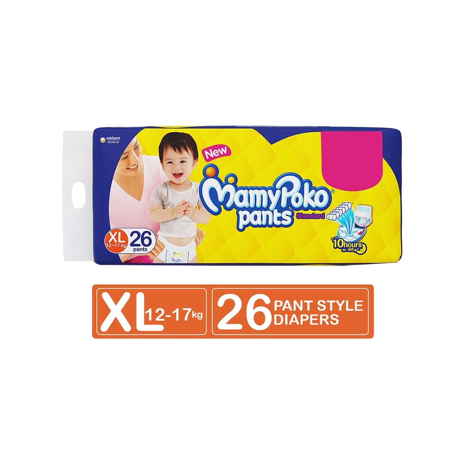 Mamy Poko Pants Standard Pant Style Extra Large Diapers - 26 Count