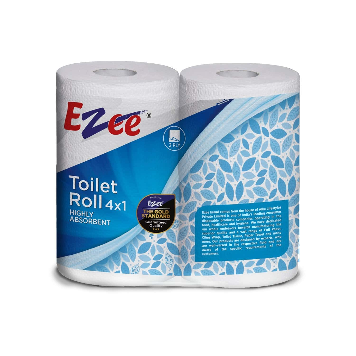Ezee Roll 2 Ply Toilet Tissue Roll Packet Of 1 's