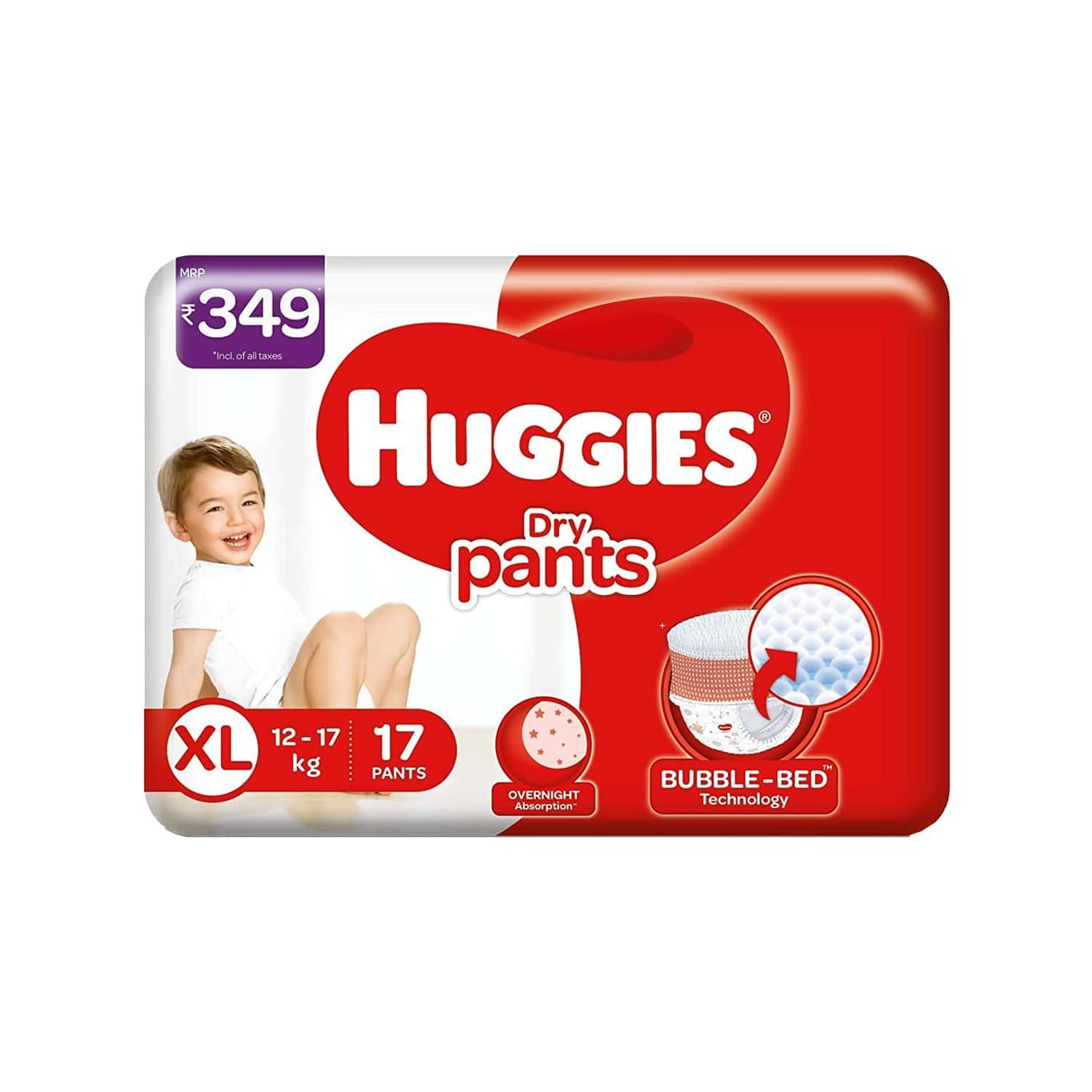 Huggies Dry Pants Diapers (extra Large Size) - 17 Count