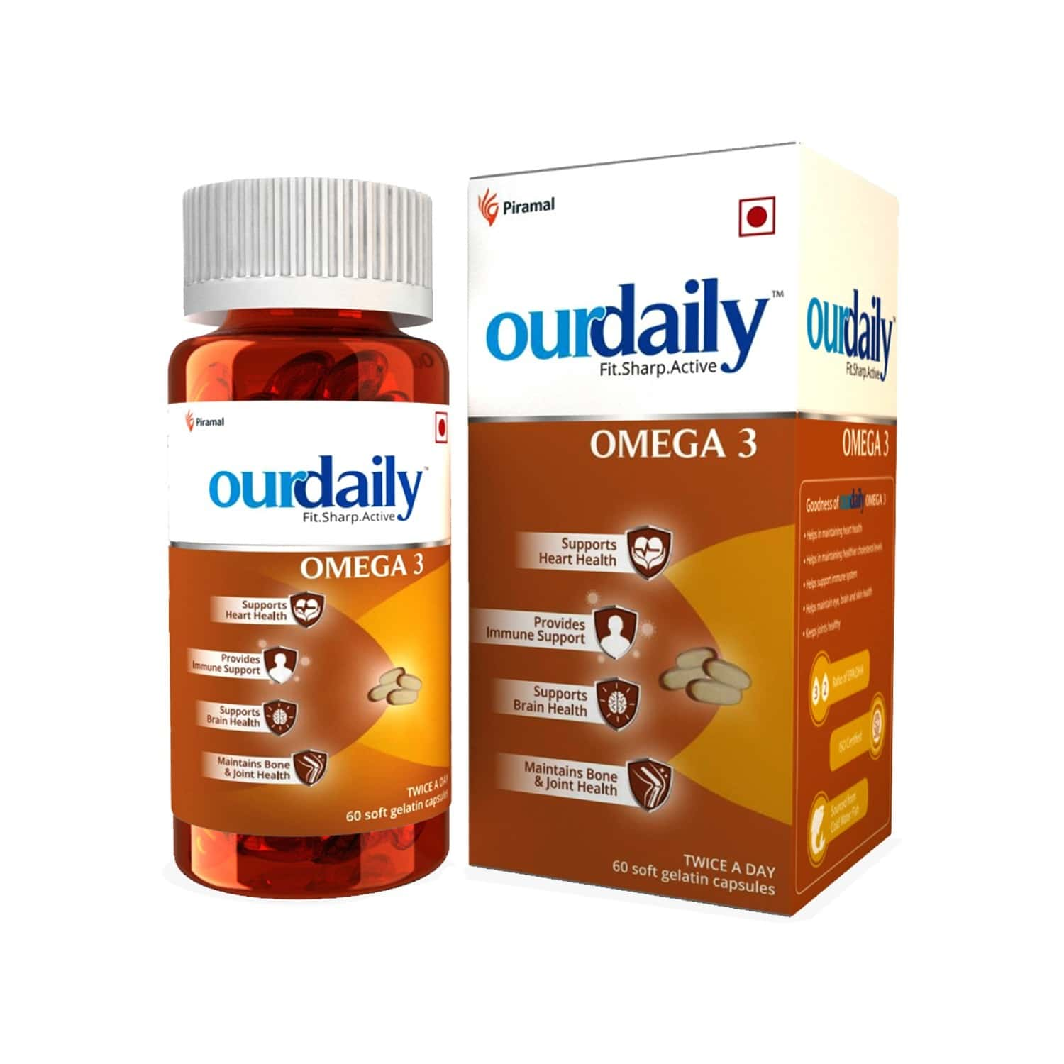 Ourdaily Omega 3-1000mg - 60 Capsules