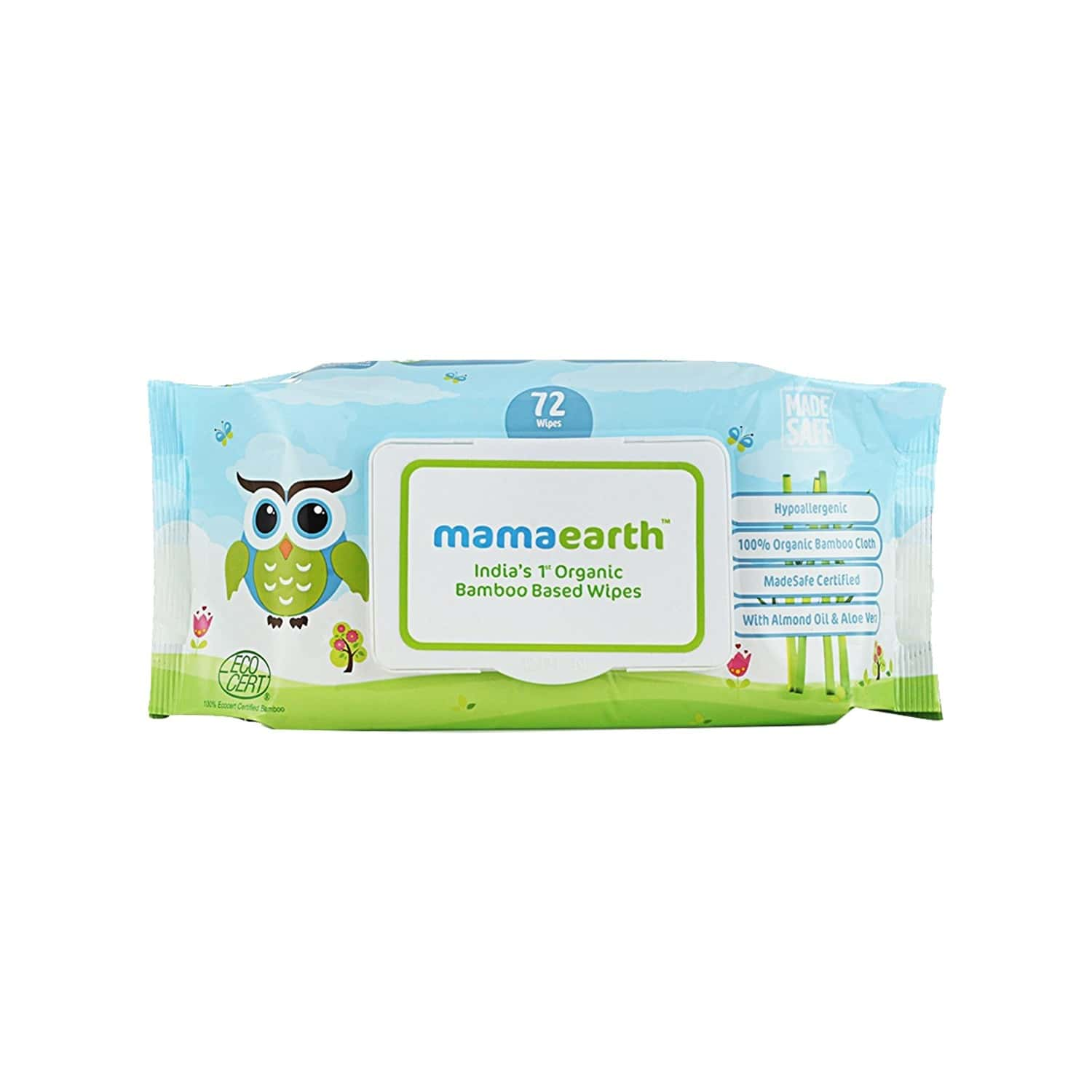 Mamaearth Organic Bamboo Baby Wipes (4 X 72) Box Of 288
