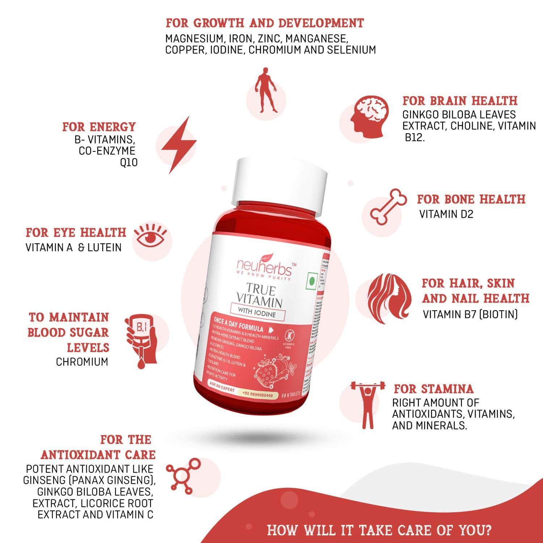 Neuherbs Vitamin Tablets Bottle Of 60 G