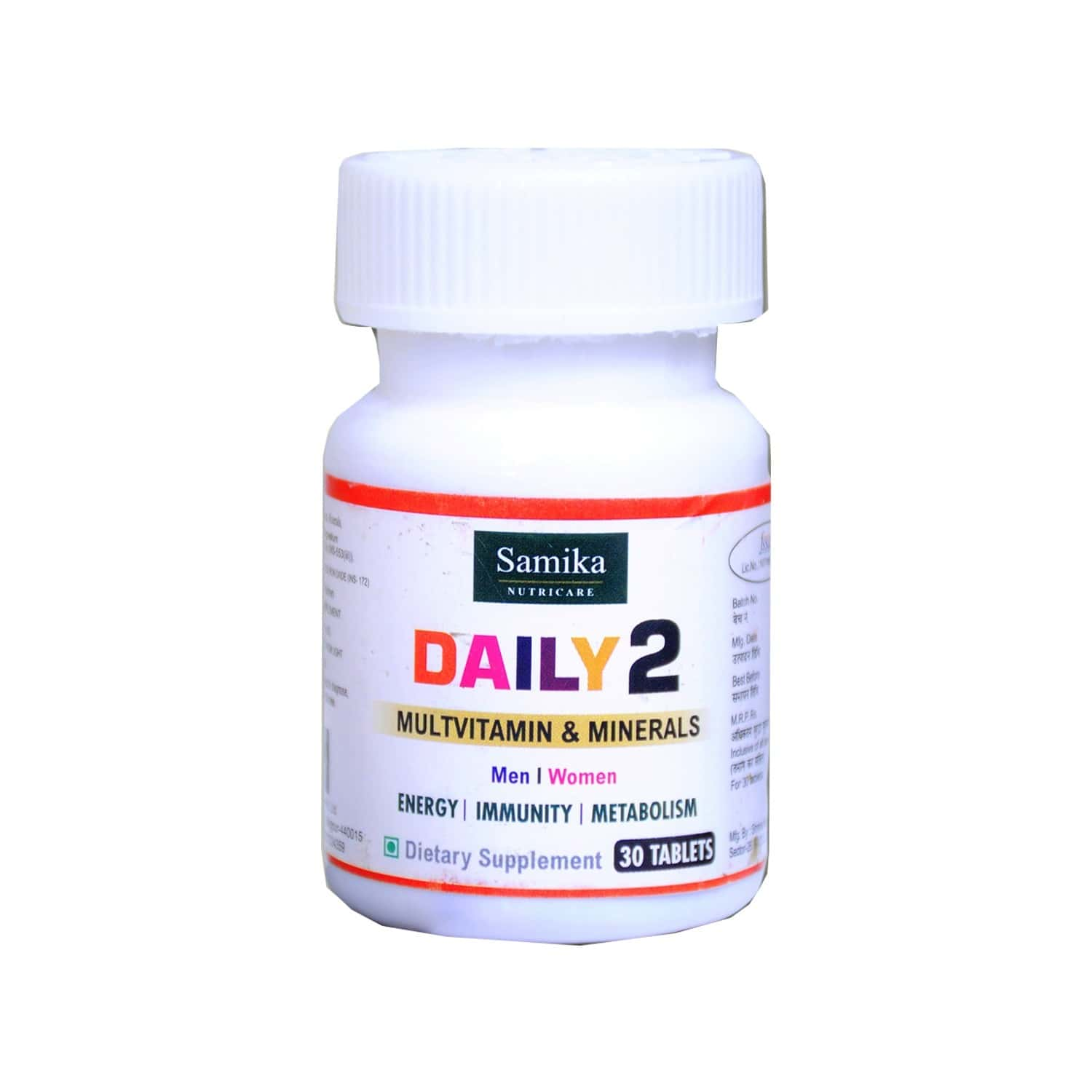 Samika Nutricare Daily 2 Multivitamin And Minerals - 30 Tablets