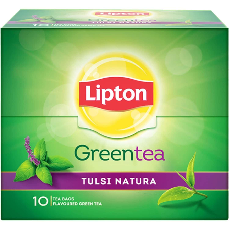Lipton Tulsi Natura Green Tea Bags 10 Pcs