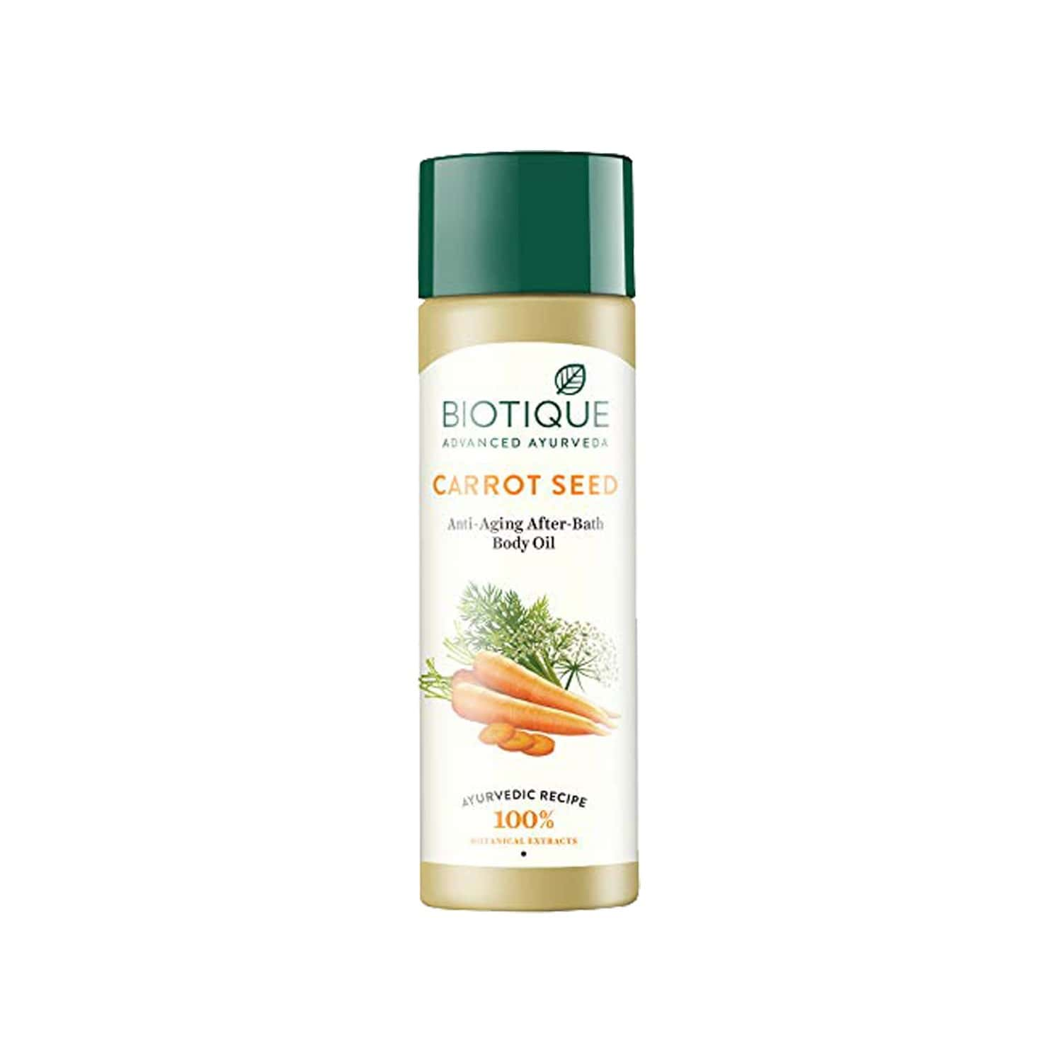 Biotique Bio Carrot Seed Anti Aging After Bath Body Oil - 120 Ml