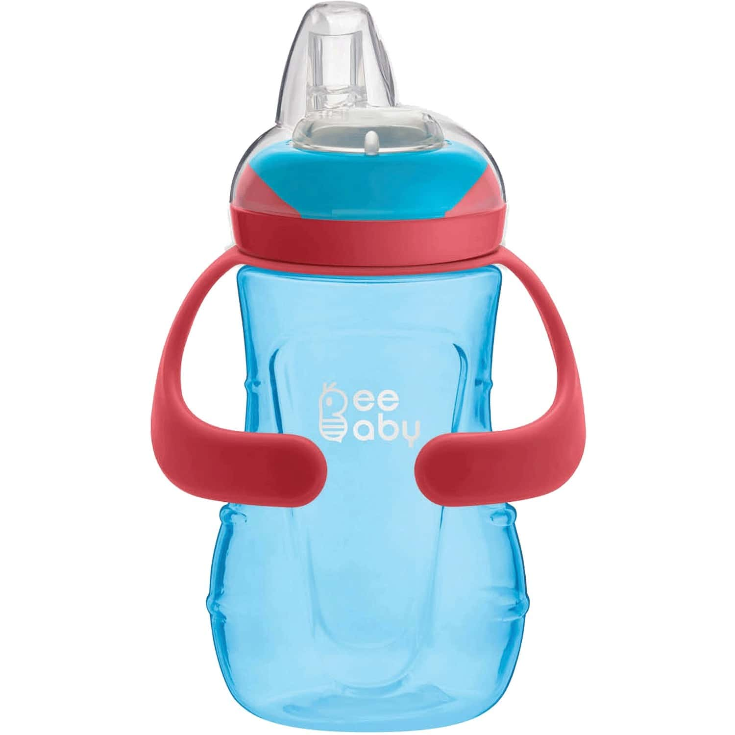 Beebaby Soft Silicone Spout Sippy Cup With Handle For Baby / Toddlers 250 Ml (blue)