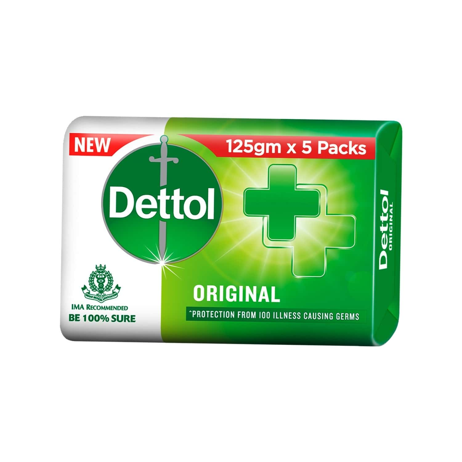 Dettol  Soap (5 X 125gm) Pack Of 5
