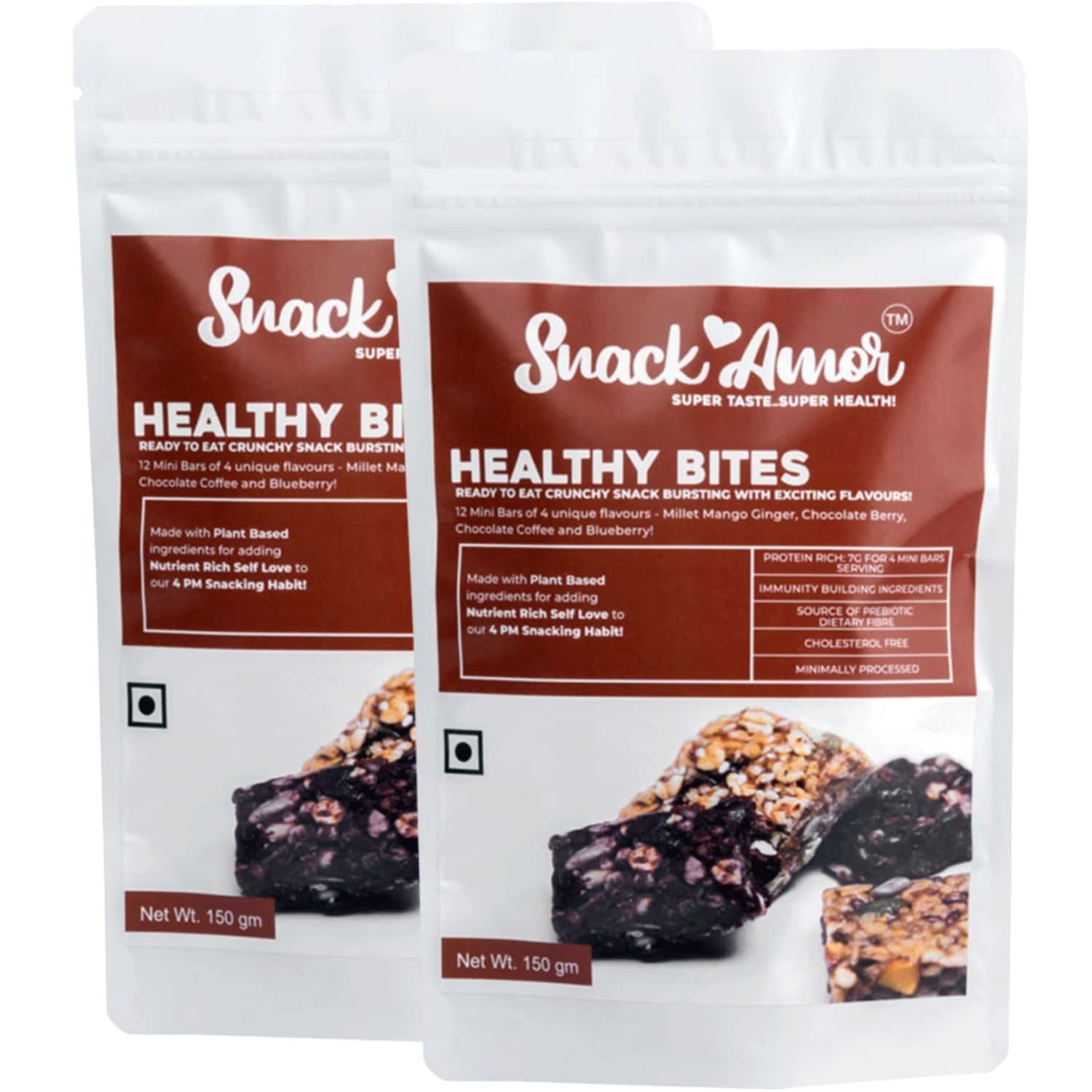 Snack Amor Healthy Bites - Mini Bars - Protein Rich Bars -pack Of 1 X 150g
