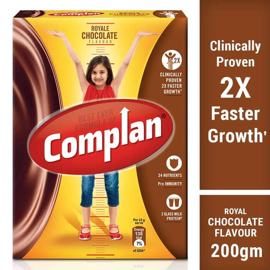 Complan Nutrition And Health Drink Royale Chocolate - 200gm Box