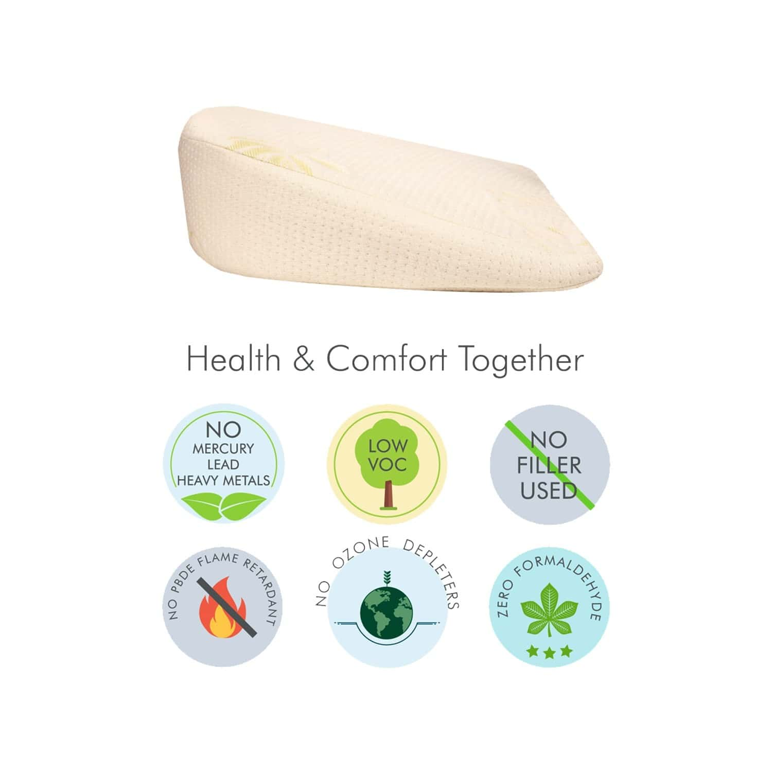 The White Willow Memory Foam Pregnancy Pillow For Pregnant Women Multipurpose Wedge Maternity Pillow For Body & Belly Support -bamboo