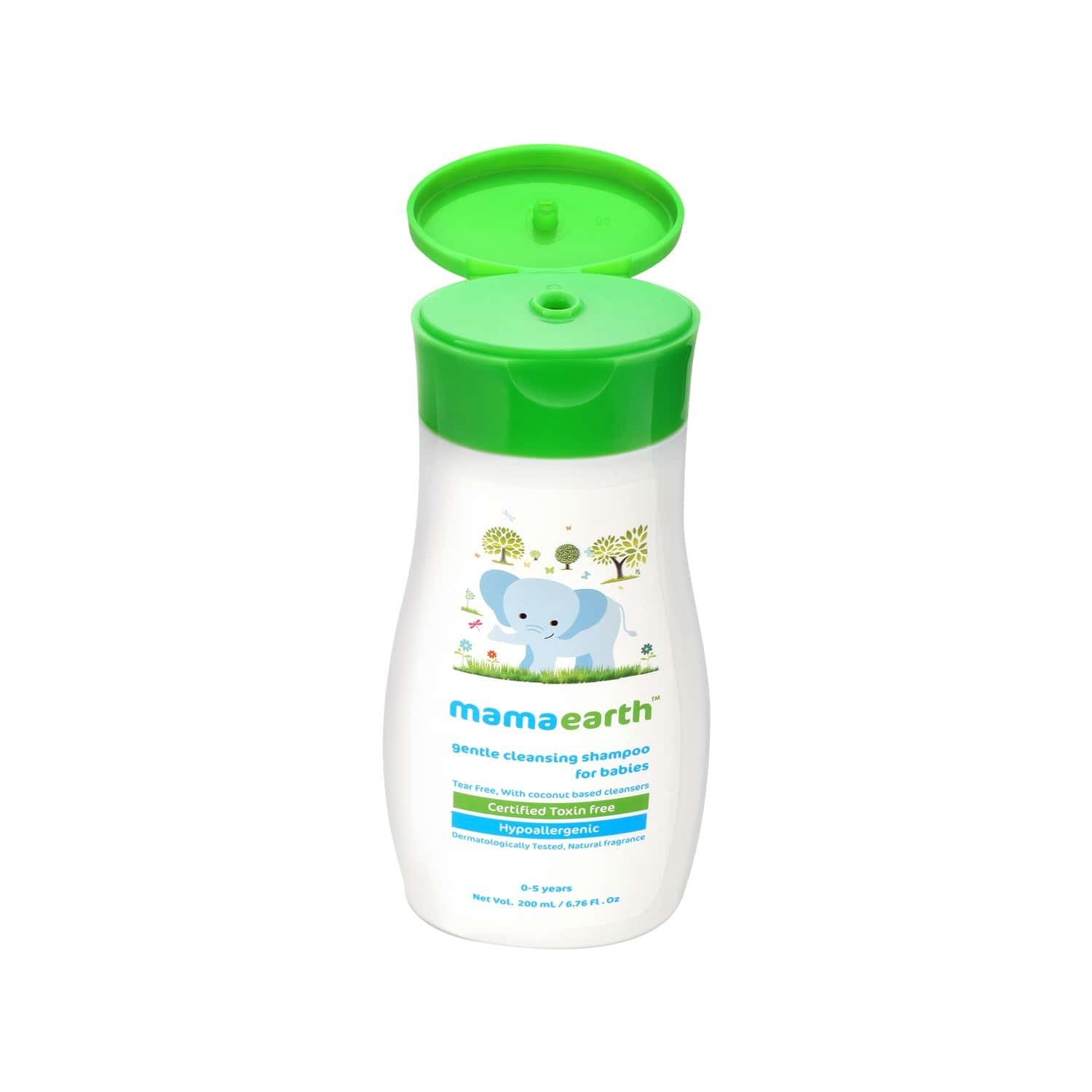 Mamaearth Gentle Cleansing Shampoo For Babies - 200ml For 0-5 Yrs