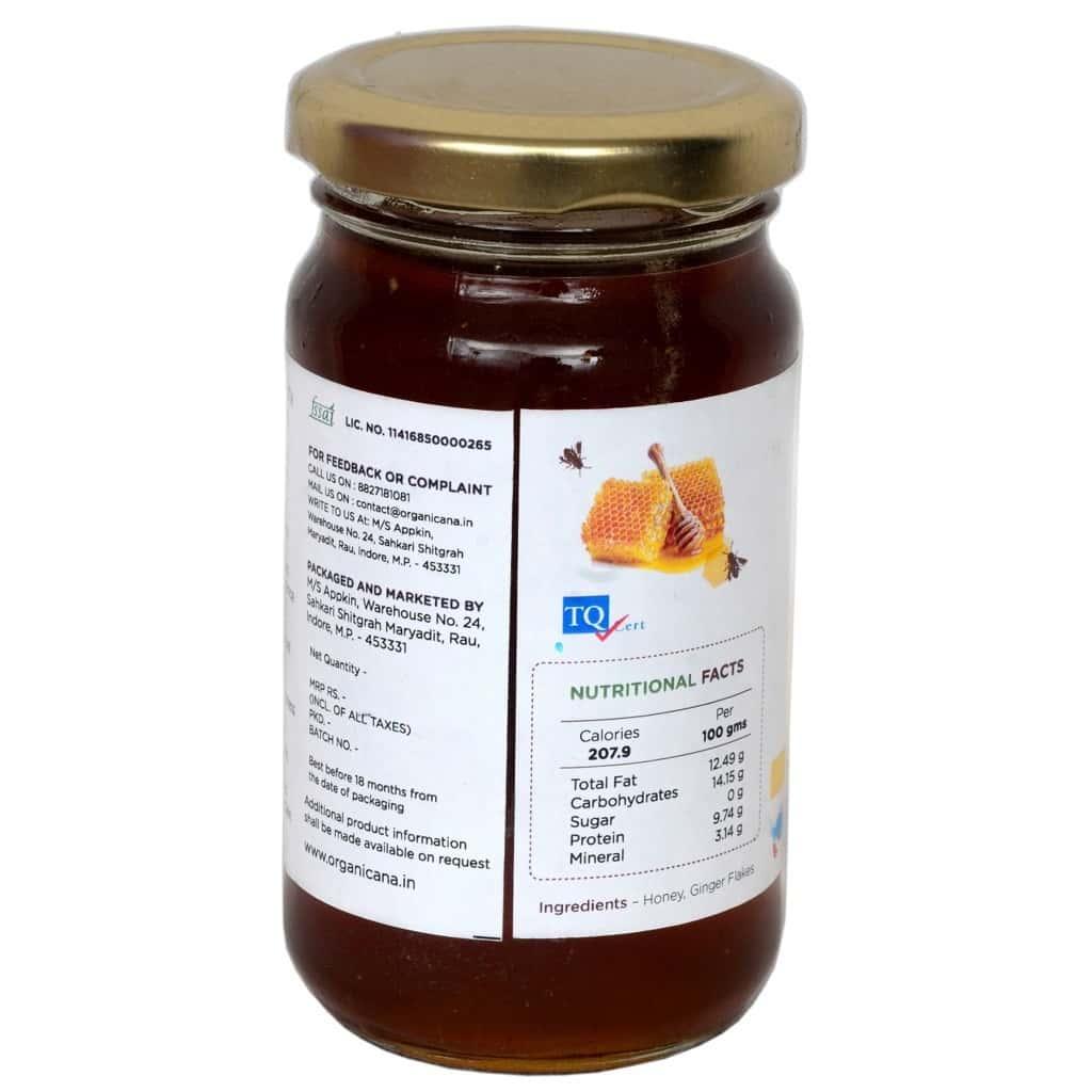 Organicana Organic Honey Ginger 250 Gms