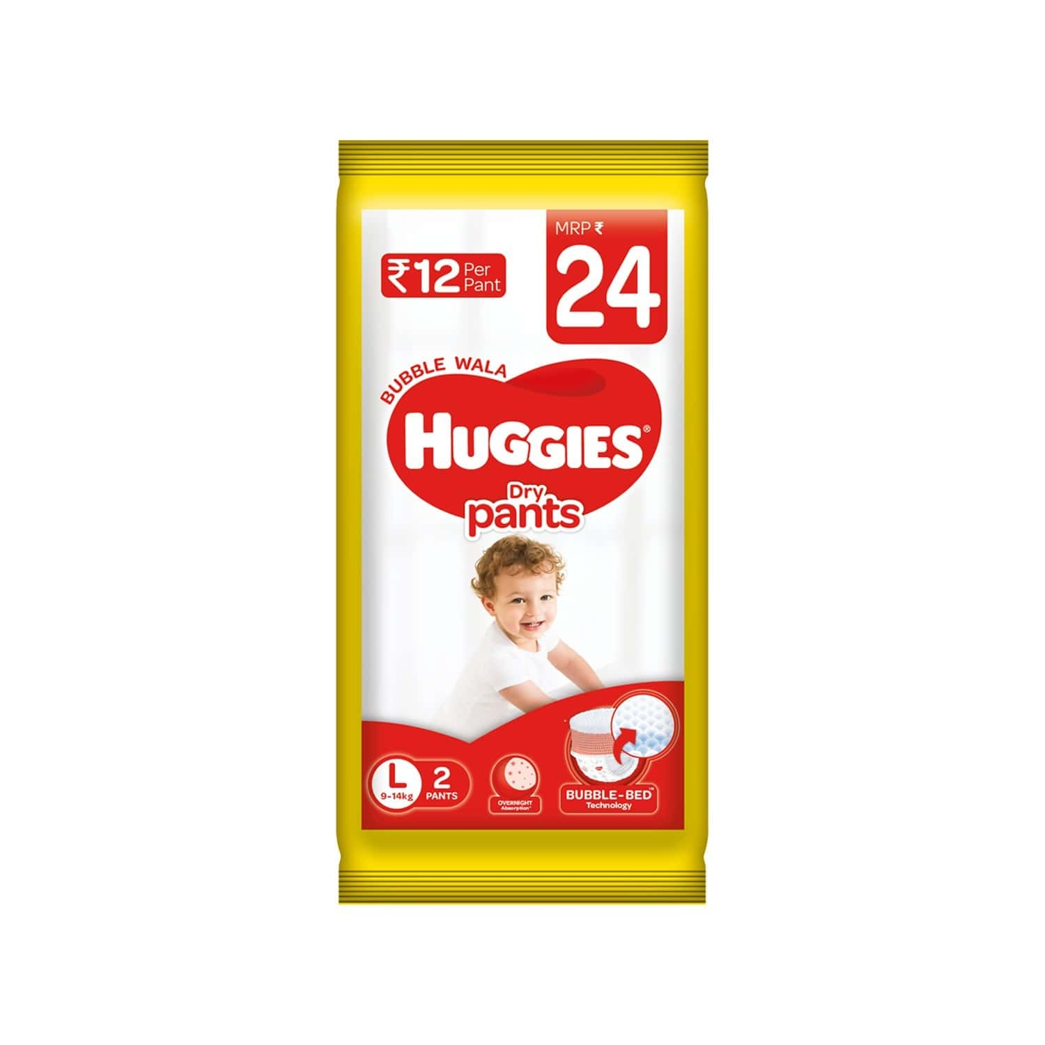 Huggies Dry Pants Diapers ( Large Size) - 2 Count