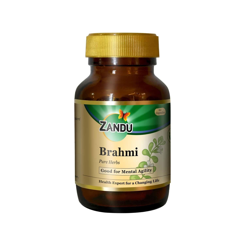 Zandu Brahmi Pure Herbs  Mind Wellness Capsules  Bottle Of 60