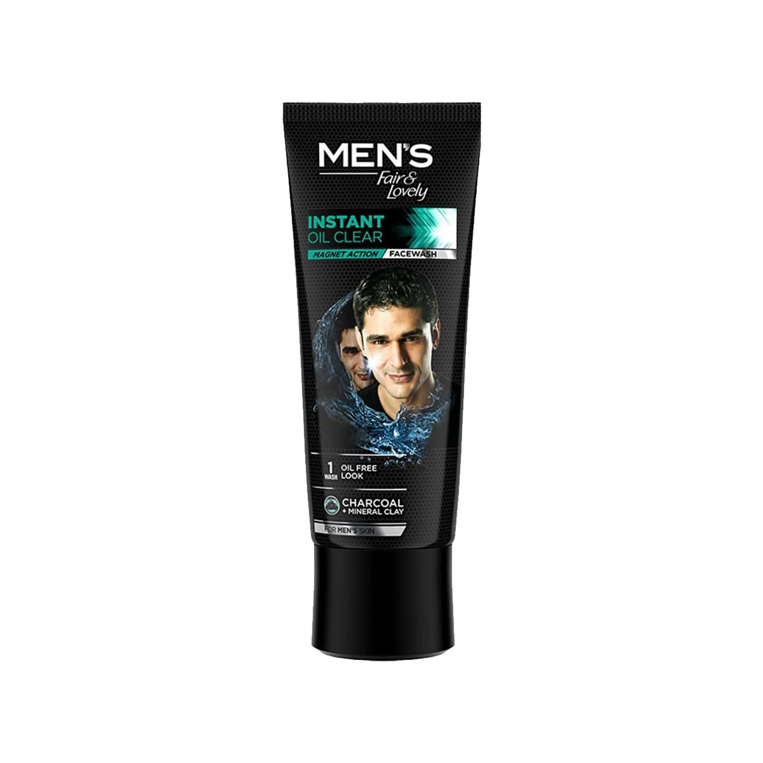 Mens Fair And Lovely Instant Oil Clear Magnet Action Face Wash-100 G