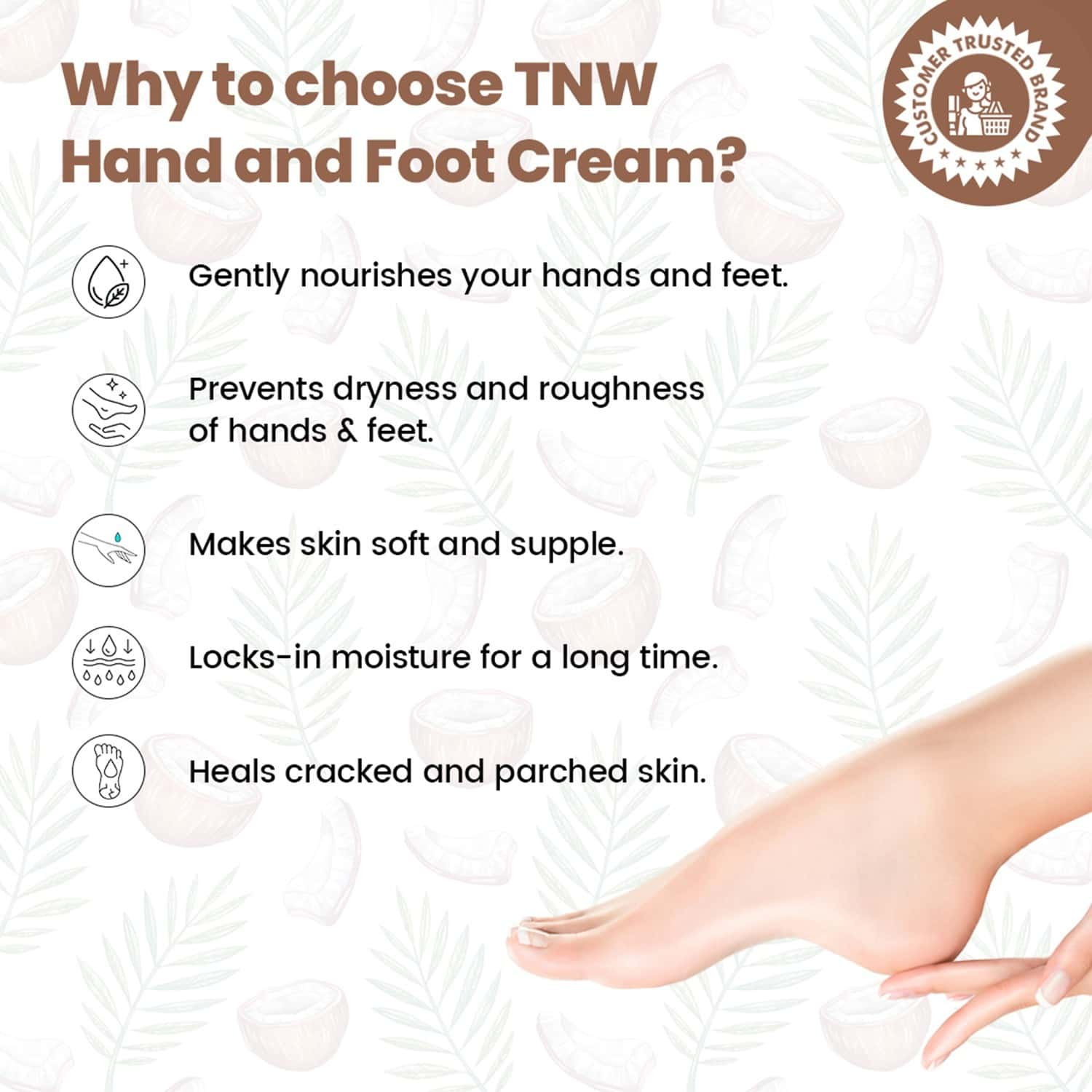 Tnw The Natural Wash Hand And Foot Cream For Nourished Hand & Feet - 50 Ml