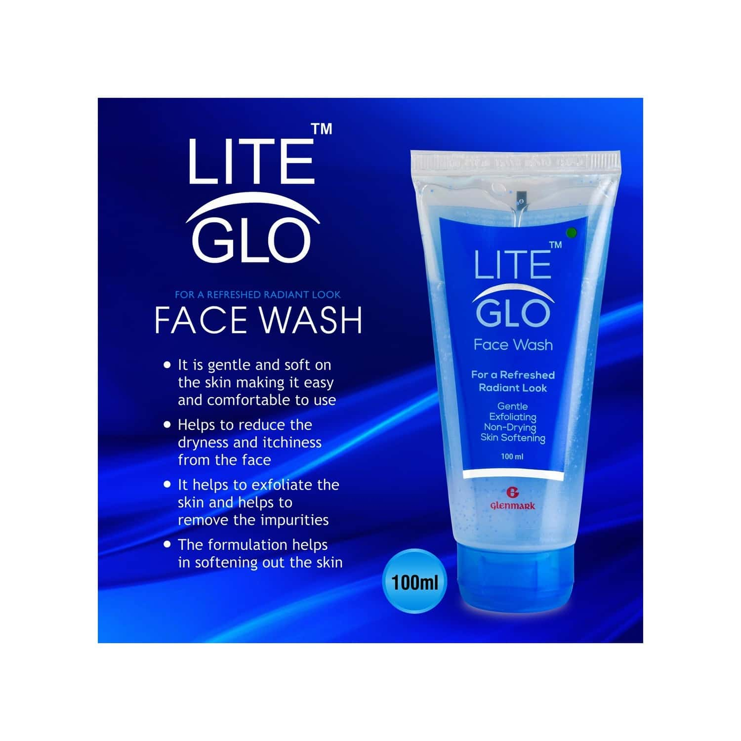 Lite Glo Face Wash Tube Of 100 Ml
