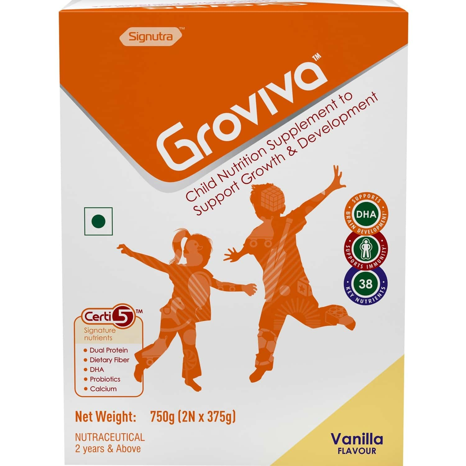 Groviva Child Nutrition Supplement Vanilla - 750 Gm