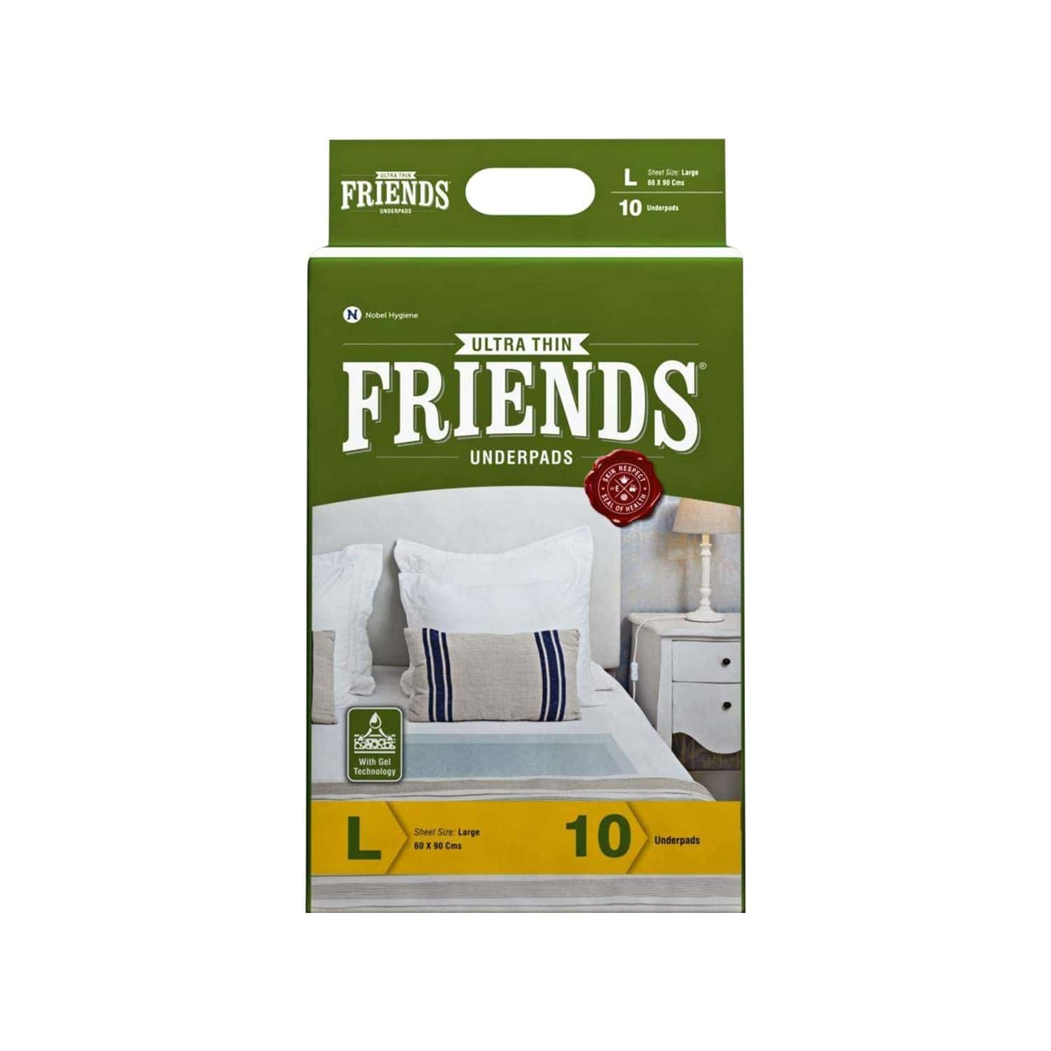 Friends Ultra Thin Underpads Large (60 X 90) - 10's
