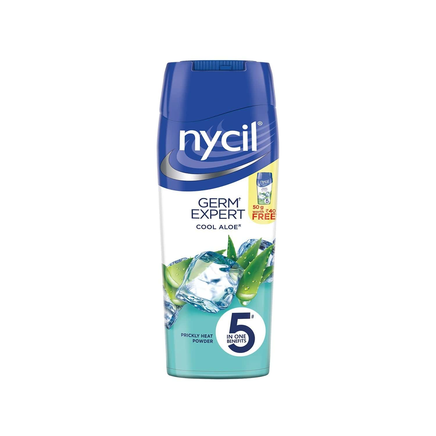 Nycil Cool Aloe Prickly Heat Powder Bottle Of 150 G (cool Herbal 50g Free)