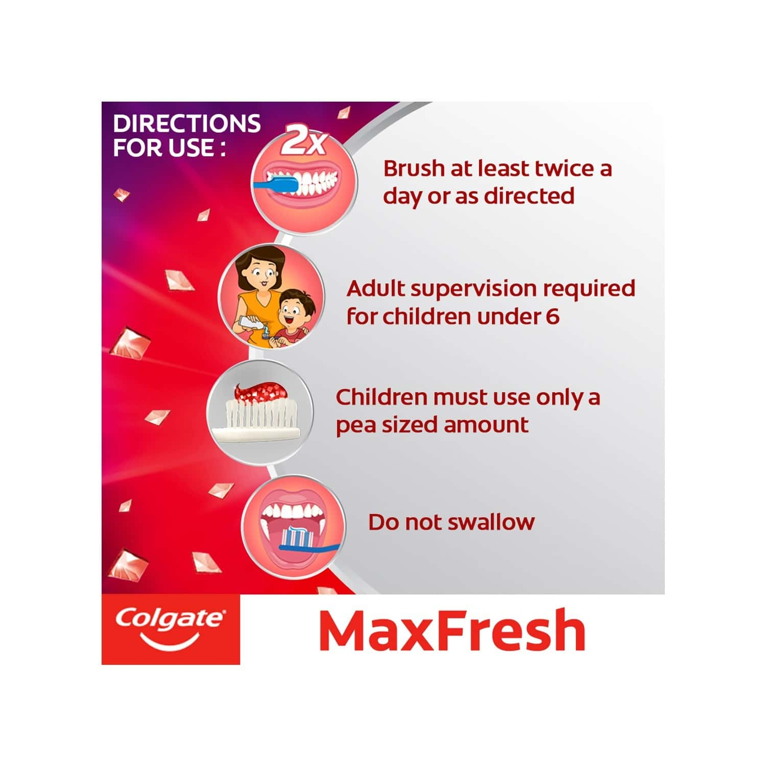 Colgate Maxfresh Toothpaste, Red Gel Paste With Menthol For Super Fresh Breath, 150g X 4 (spicy Fresh) - 600g