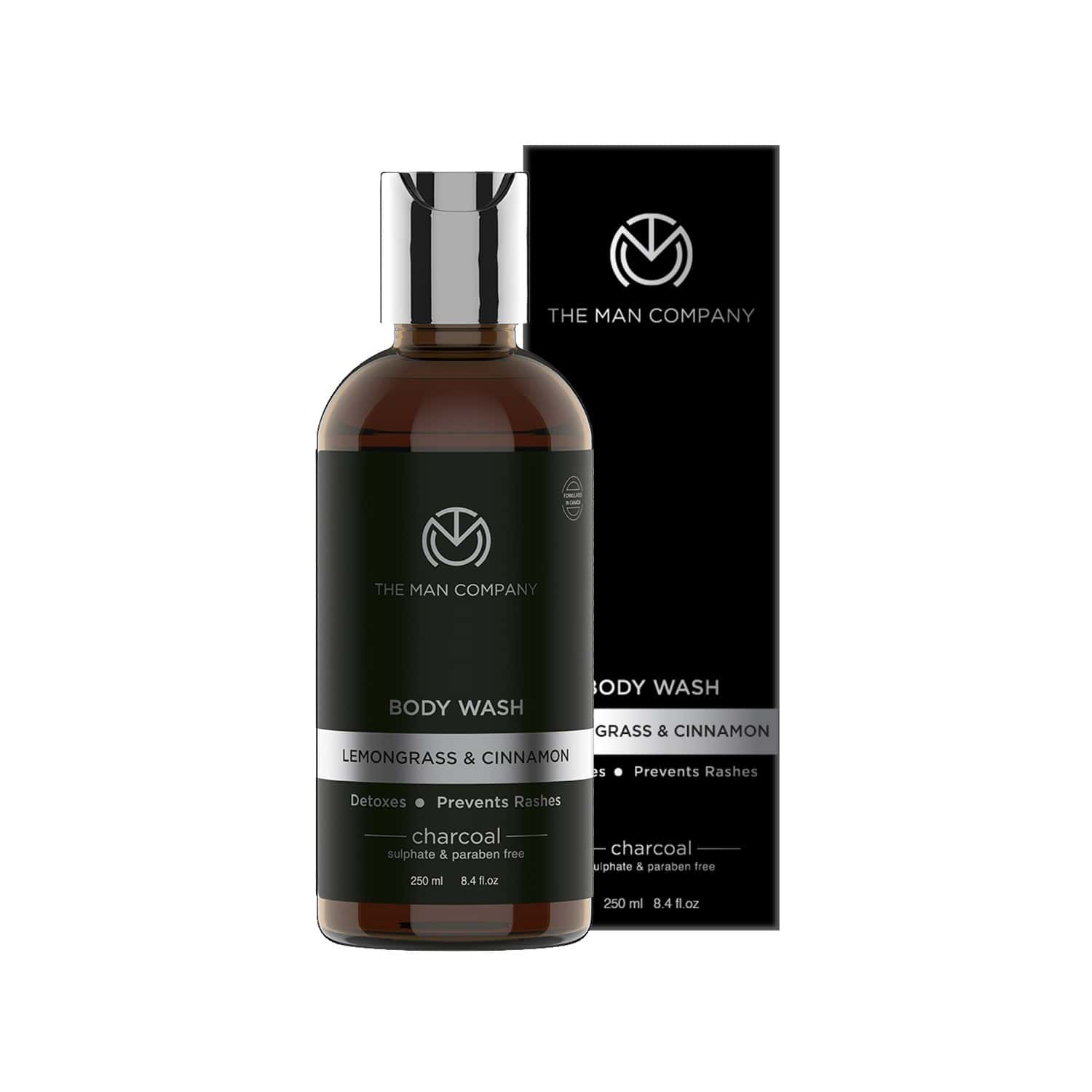 The Man Company Deep Cleansing Activated Charcoal Body Wash - 250 Ml