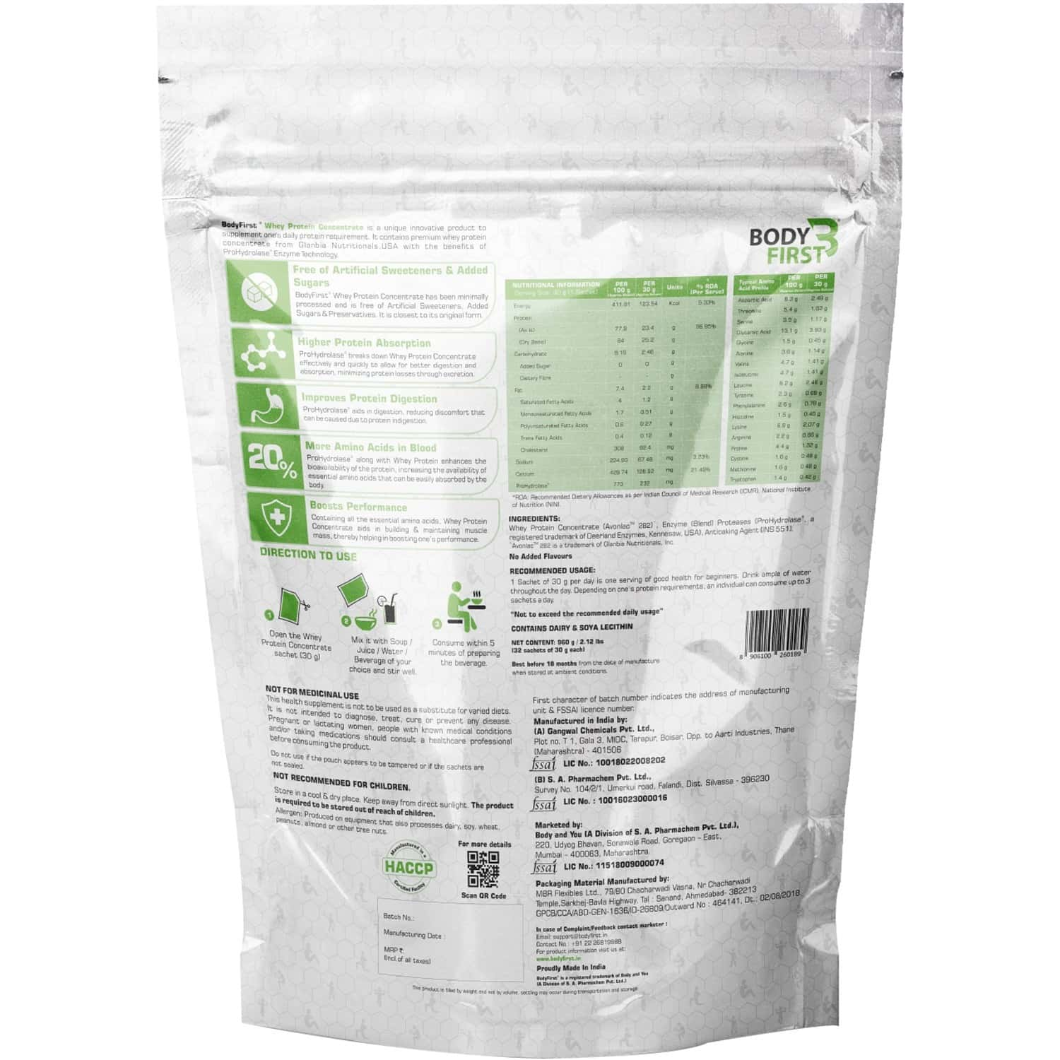 Bodyfirst Whey Protein Hydro/concprohydrolase Unflavoured