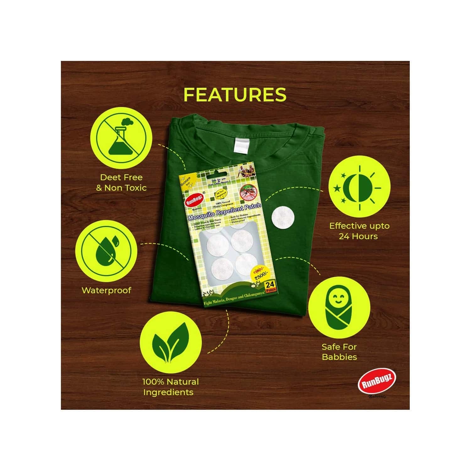 Mosquito Repellent Patches, Anti Mosquito Patch, 24 Patches - White