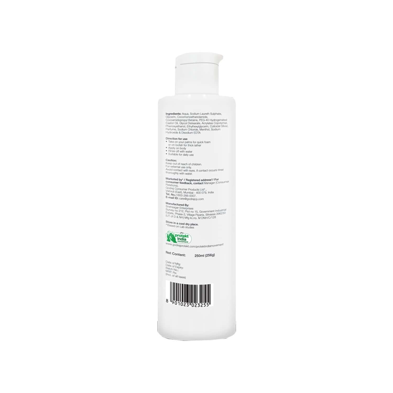 Godrej Protekt Health Body Wash - 99.9% Germ Protection, Deep Cleansing And Moisturising, For Both Men & Women, Citrus Fragrance - 250ml