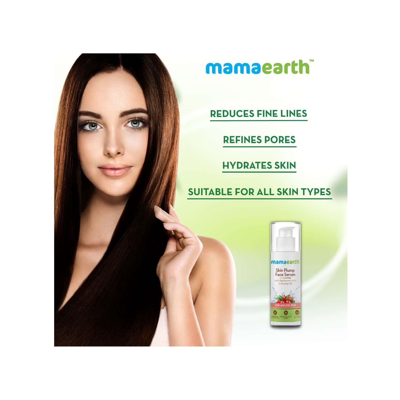 Mamaearth Hyaluronic Acid & Rosehip Oil Skin Plump Serum For Ageless Skin Bottle Of 30 Ml