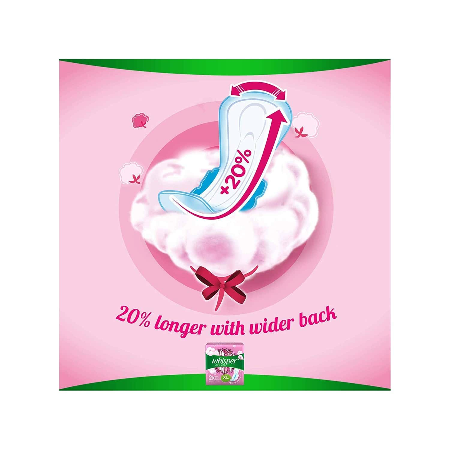 Whisper Ultra Soft  Sanitary Pads  Pack Of 7 (xl Plus)