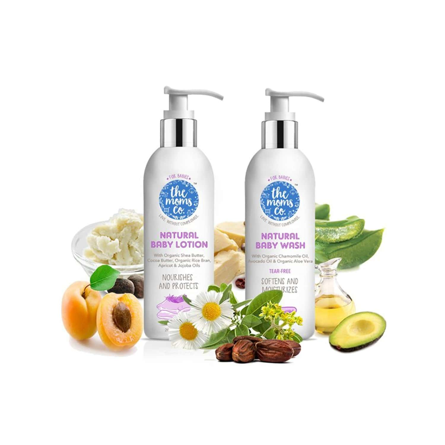 The Moms Co. Natural (wash And Lotion -50 Ml Each) Baby Bath Kit Of 100 Ml
