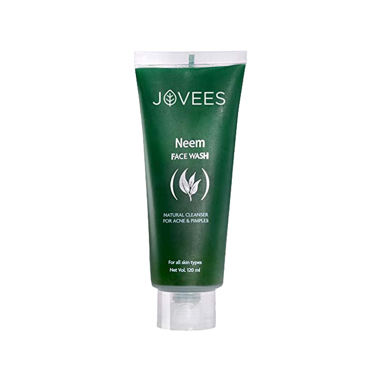 Jovees Neem Face Wash Natural Cleanser For Acne & Pimples - 120 Ml