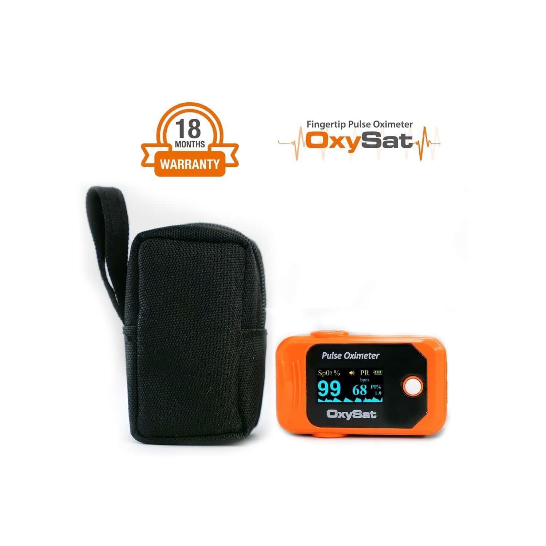 Oxysat - Finger Tip Pulse Oximeter With 2 Batteries, 18 Months Warranty