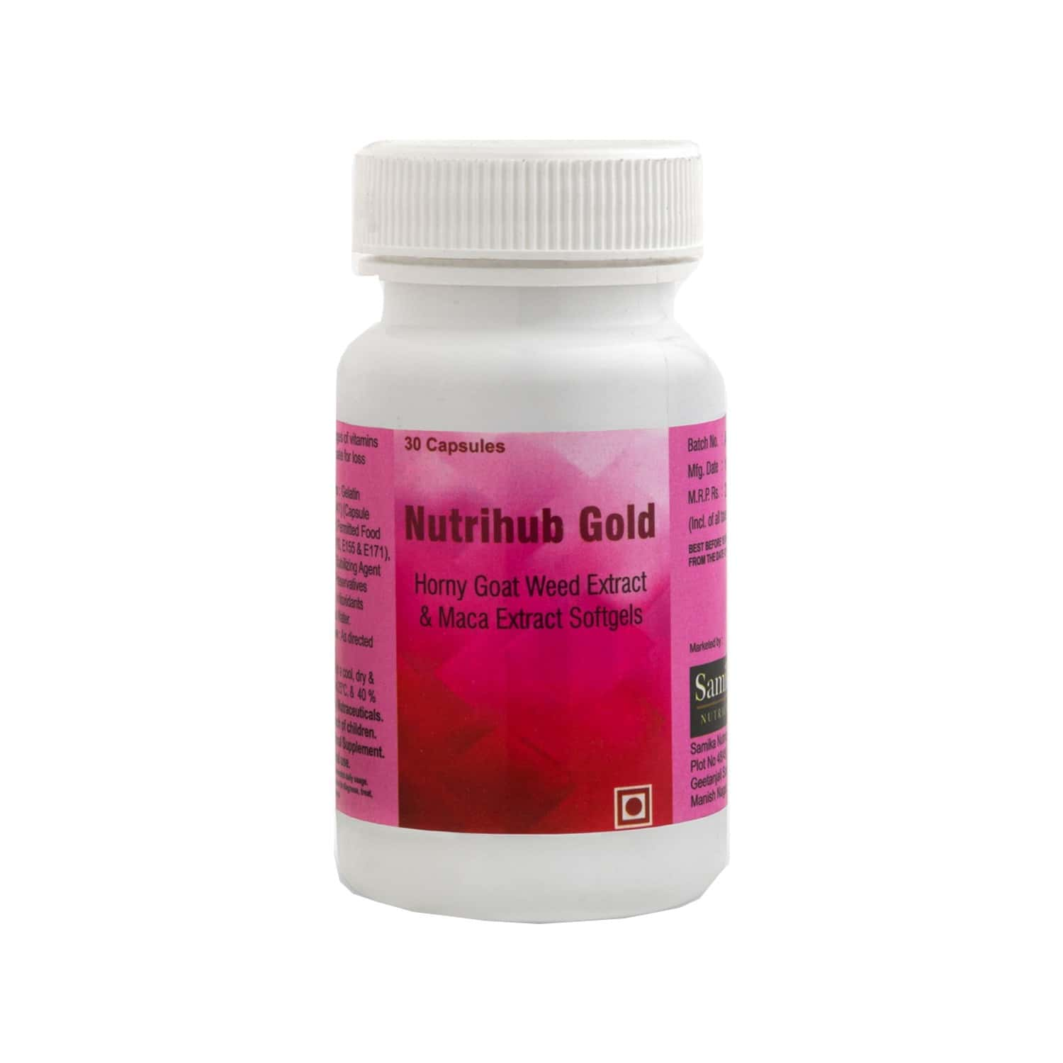 Nutrihub Gold Horny Goat Weed Extract And Maca Extract Softgels - 30 Capsules