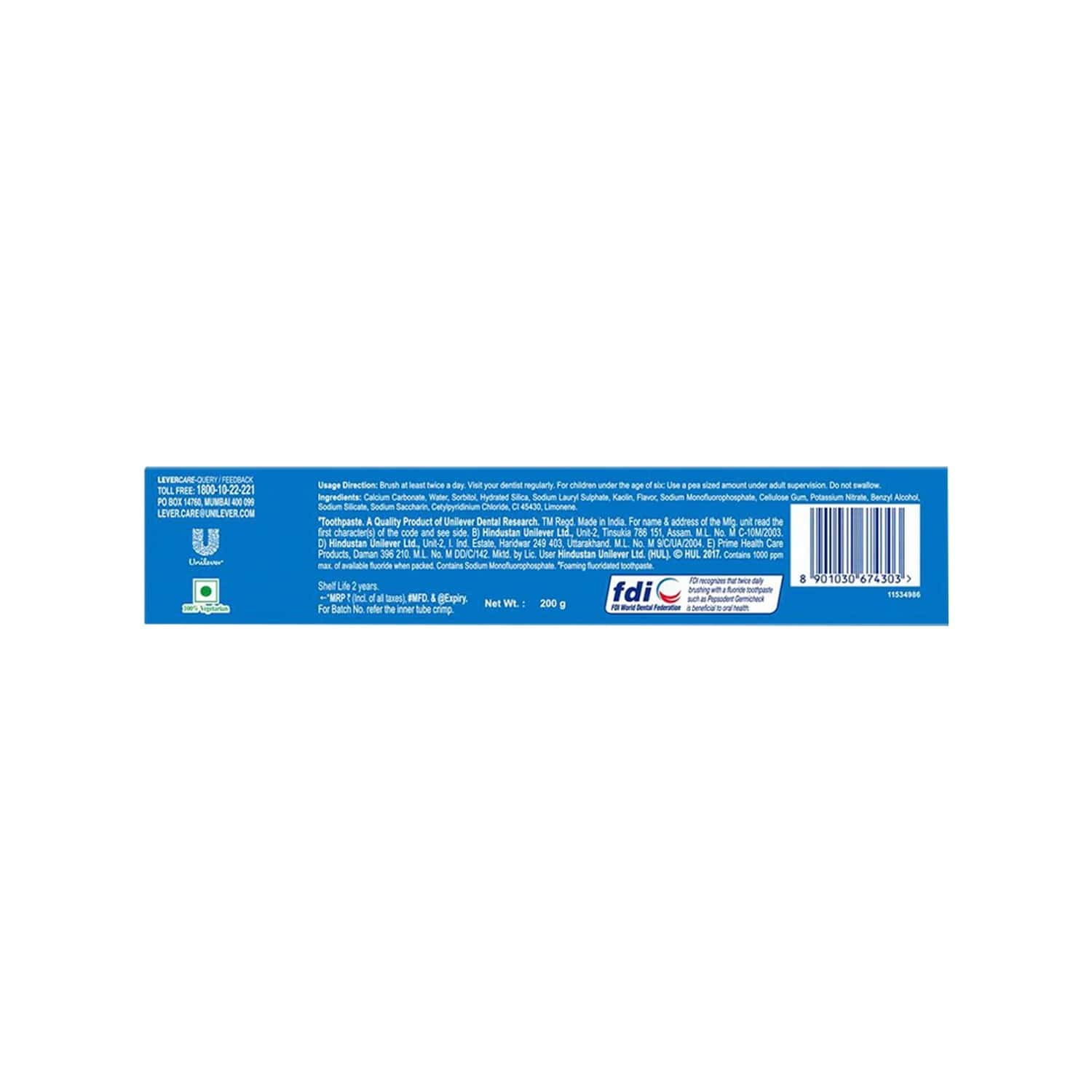 Pepsodent Germi Check Cavity Protection Toothpaste Tube Of 200 G