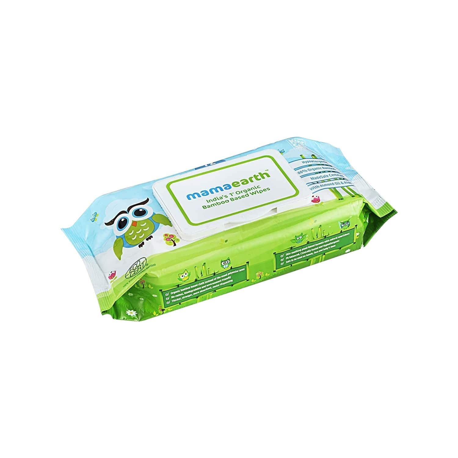 Mamaearth Organic Bamboo Wipes Packet Of 72 's