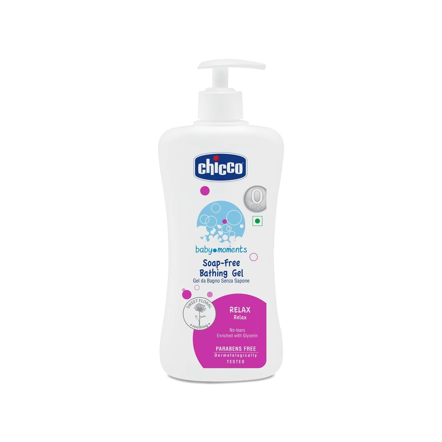 Chicco Baby Bathing Gel Relax Pink Bottle Of 500ml
