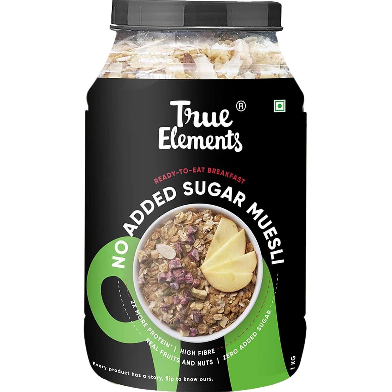 True Elements No Added Sugar Muesli - 1000gm