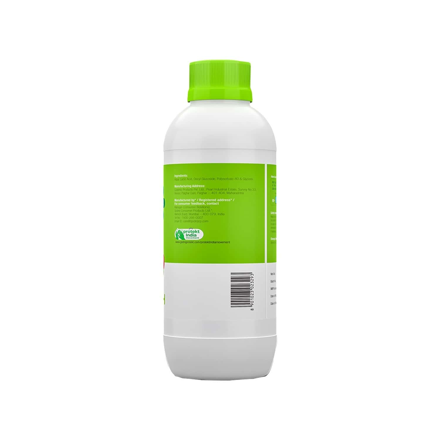 Godrej Protekt Germ Protection Fruit & Veggie Wash, Natural Ingredient Based, Removes Germs, Bacteria, Fungus, Wax & Dirt - 500ml