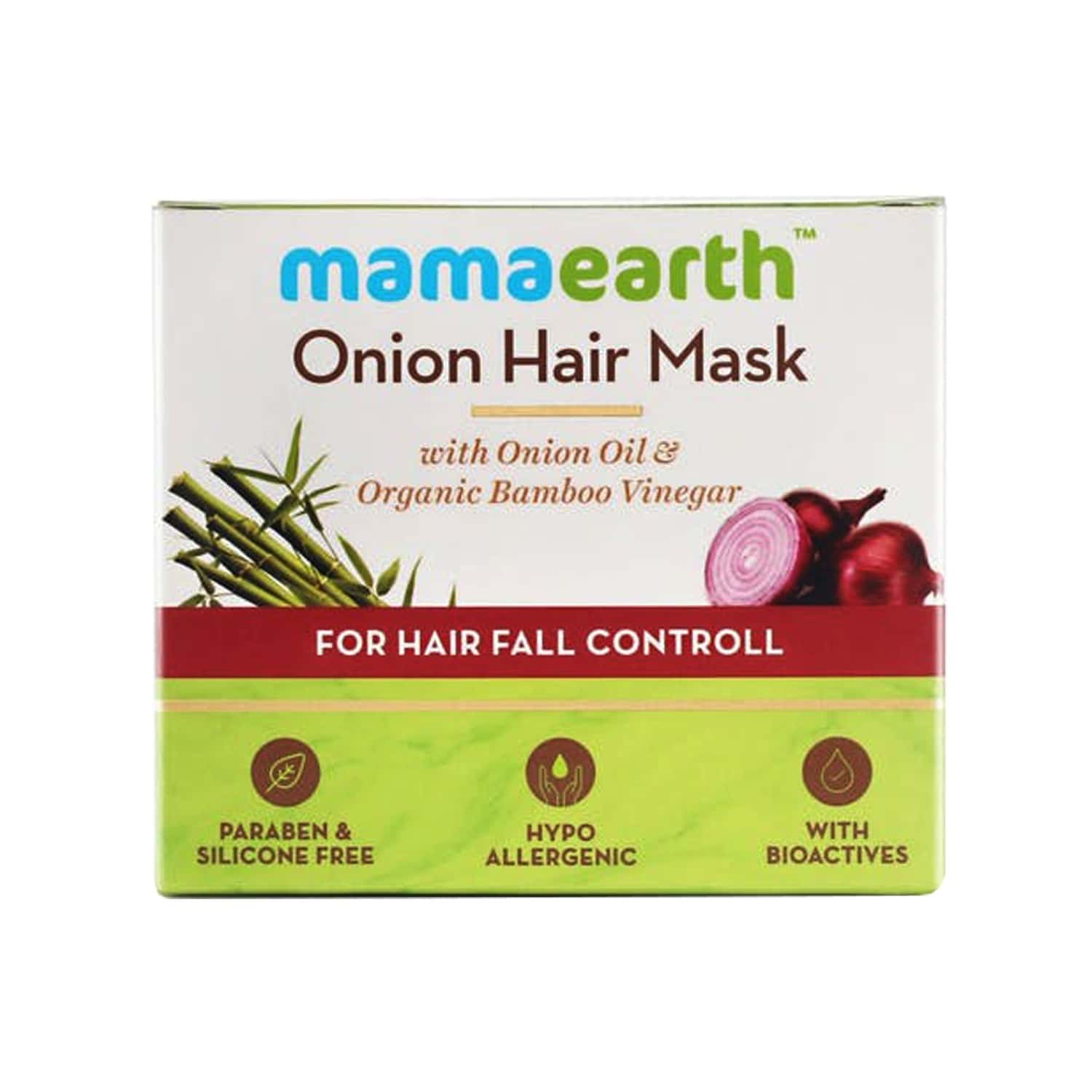 Mamaearth's Hair Mask Onion & Organic Bamboo Vinegar Container Of 200 Ml