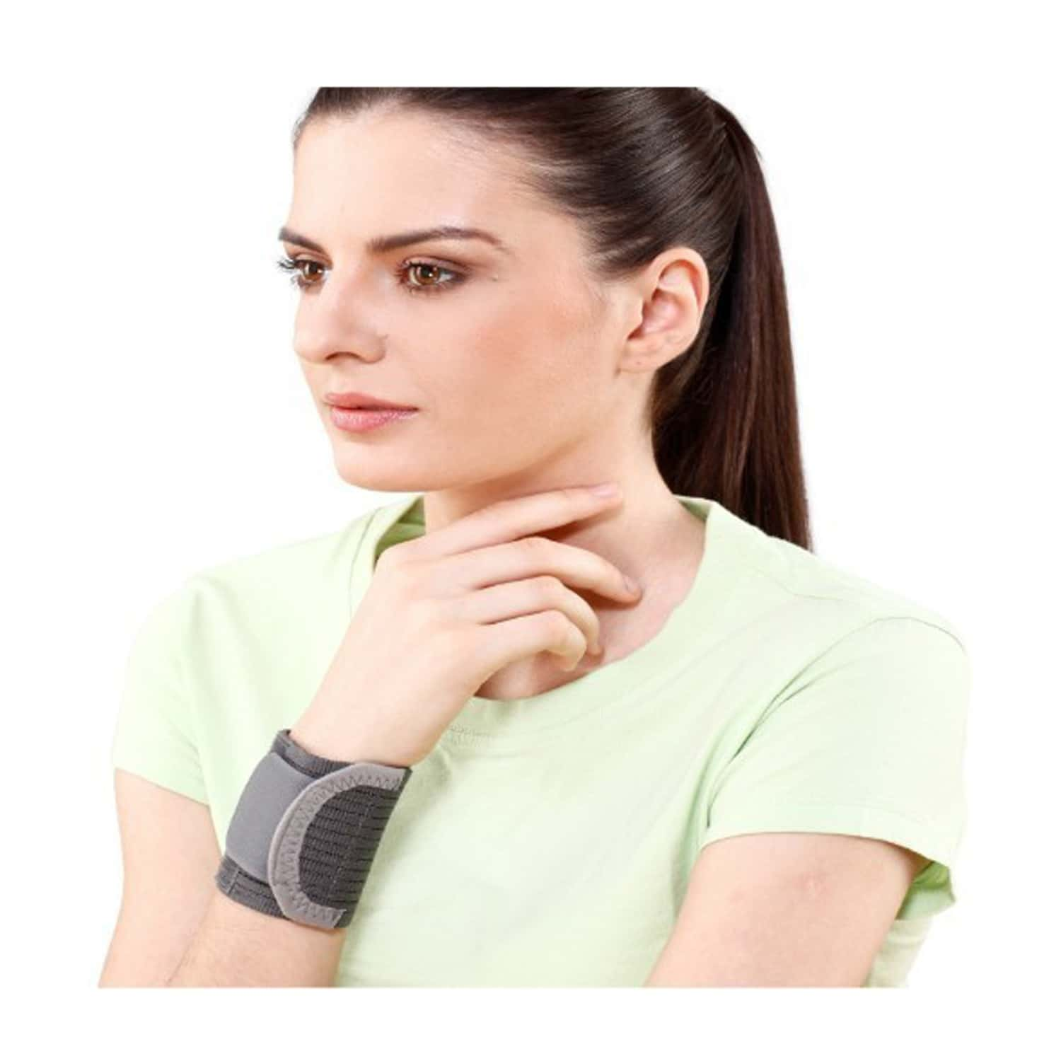Tynor Wrist Brace With Double Lock ( Compression,immobilization,pain Relief) - Medium