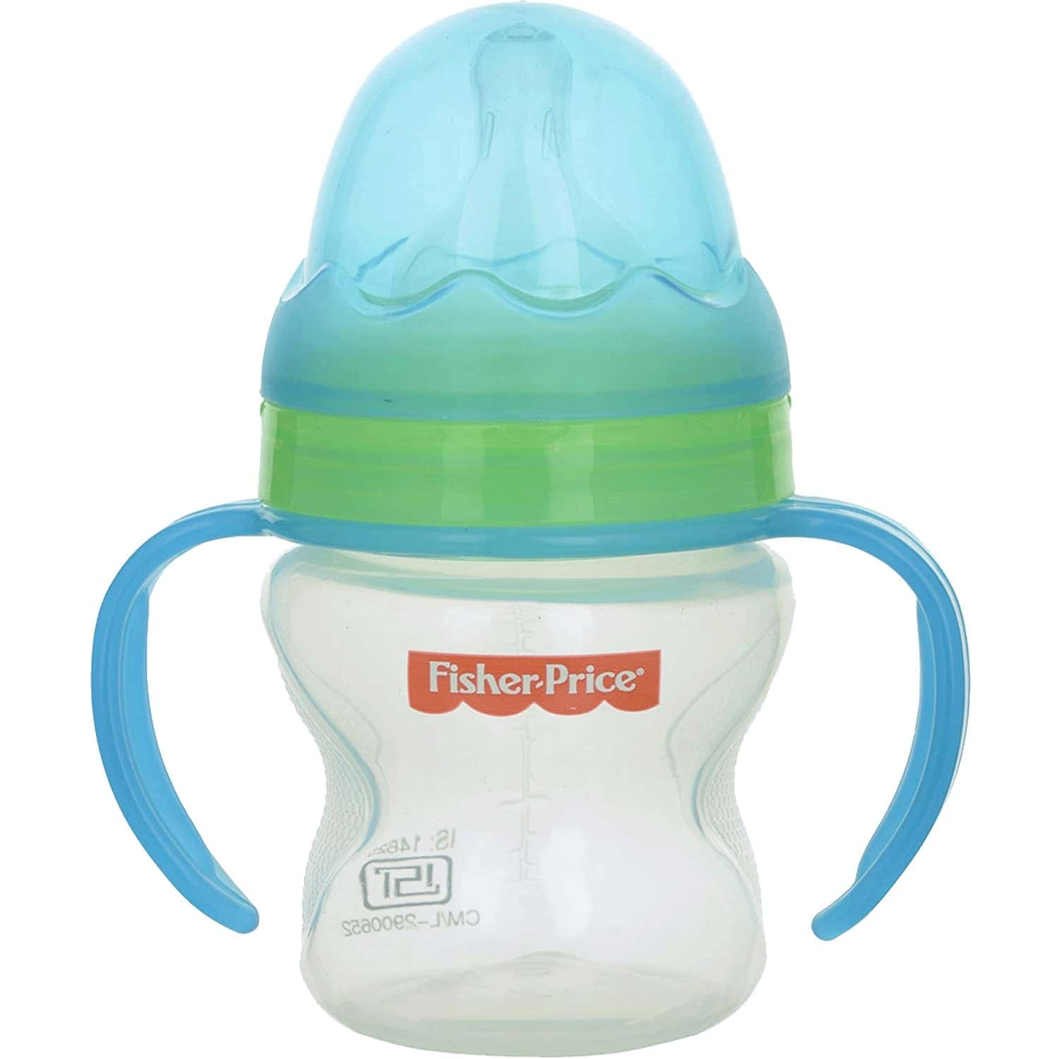 Fisher Price Ultracare Wide Neck Baby Feeding Bottle With Handle 5oz./150ml (blue)